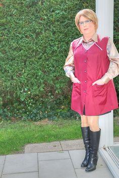 Kittel in Zeeland Blouse, Shirt Dress, Staff Uniforms, Mistress, Overalls, Housewife, Nylons, Shirts, Dresses