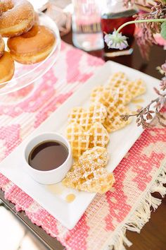 How perfect are these Heart-Shaped Waffles for your Galentine's Day brunch?!