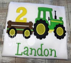 Farm Themed Tractor Birthday Shirt by PreppyPlum on Etsy
