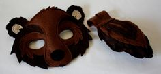 Brown Bear Woodland Mask and Tail they also have a Fox one - Make this for the play?