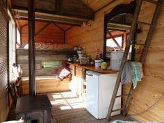 Rustic mobile/tiny home interior