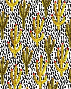 Cacti II. #illustration #pattern