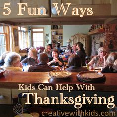 Low Stress ways kids can enjoy helping at Thanksgiving + free printable activities for if they get bored waiting for pie.