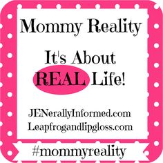 I'm co-hosting a new Mommy Reality challenge. Come by and check it out! The next two weeks we'll be sharing what bad habit we should be breaking for 2015.