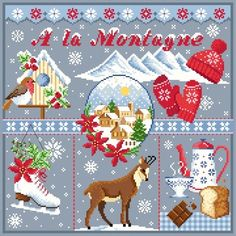 ♥ Points, Le Point, Creations, Passion, Mountain, Bonheur, Cross Stitch, Embroidery