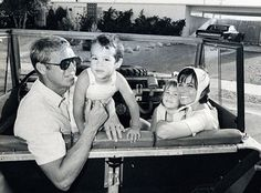 Steve McQueen and his wife, Neile Adams, with their children Chad and Terry, in 1962.