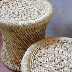 Woven Indian Mooda Stool - All Furniture & Lighting - Best Sellers - Eco-Friendly - Gifts For The Home - Pfeifer Finds - See It All! - Stools, Chairs + Benches @ Pfeifer Studio- Detail
