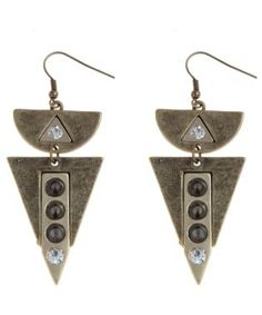 Gold Triangle Spike Earrings  £4.99  New Look
