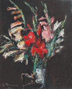 Gladiole - Gh.Petrascu Famous Art, Art Database, Renoir, Art Drawings, Noiembrie, Artist, 1 Mai, Europe, Paintings