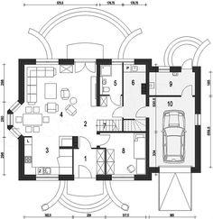 O casa pentru toata familia trebuie sa fie functională, eleganta , si sa ofere intimitate si spatiu pentru toti memebrii familiei. Proiectul prezentat este o locuinta destinata familiilor cu 3 memb…