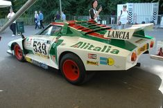 The stunning Alitalia livery made a return in My Dream Car, Dream Cars, Ferrari, Classic European Cars, Car Drawings, Rally Car, Vintage Racing, Old Cars, Fiat