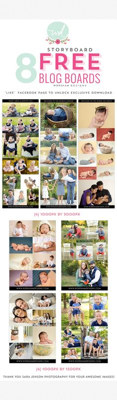 Free set of 8 Blog Boards for Photographers | from Worsham Designs