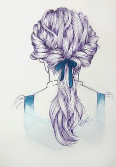 This Provincial Life Original Illustration by MichelleLynneArt, $18.00 Disney/ hair illustration