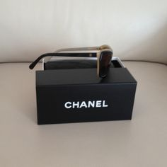 Chanel sunglasses!!!! Slightly wear, replaced them with the woven leather ones, love them as well: beige and black, classic!!! CHANEL Accessories Sunglasses
