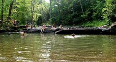 Millstream swimming hole - woodstock