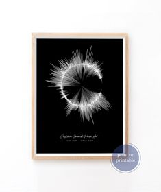 Soundwave, Custom sound Wave Art, Print or Printable Sound Wave Artwork, Gift Idea 8th Wedding Anniversary, Nature Sounds, Wave Art, Sound Waves, New Baby Gifts, That Way, Fathers Day Gifts, Giclee Print, Art