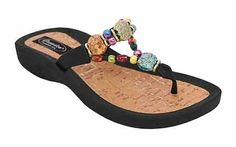Women's Grandco Marble Cork Thong Black 8 >>> To view further for this item, visit the image link.