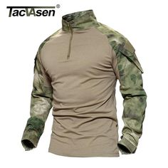 0fb497843c9f Male Camouflage T Shirts Army Combat Tactical T Shirt Military Men Long Sleeve  T Shirt Hunt