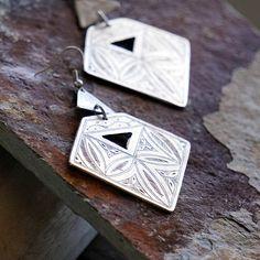 Drem Silver Statement Earrings