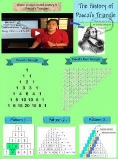 See the Glog! The History of Pascal's Triangle: text, images, music, video Algebra 1, Calculus, Math Strategies, Math Resources, Pascal's Triangle, Math Magic, Western World, Teaching Aids, School Boy