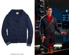 Blaine Anderson wears a @BrooksBrothers cardigan in 'Homecoming' on #Glee:    Brooks Brothers Shawl Collar Button-Front Cardigan  Worn with: Brooks Brothers bow tie, Mariclaro bag, Urban Outfitters pants