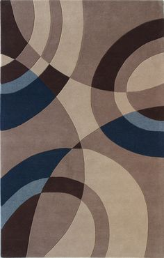 Roo bedroom ideas Dynamic Rugs Nolita 1307-110 Beige/Blue, $383 in 5' by 8' from AreaRugsClub.com. Wool.