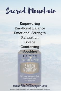Sacred Mountain blend from Young Living is empowering and grounding. I love this blend.  http://www.theoildropper.com/sacred-mountain-essential-oil/