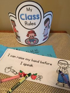 Class rules booklet and crown to help your students have a visual reminder of the rules.