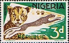 Nigeria 1965 SG 223 Cheetah Fine Mint    SG 223 Scott 260 Other Animal stamps Here