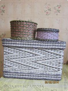 Поделка изделие Плетение Коробульки от бабульки Трубочки бумажные фото 1