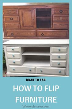 Furniture makeover. How to paint furniture. Furniture flipping tricks and tips