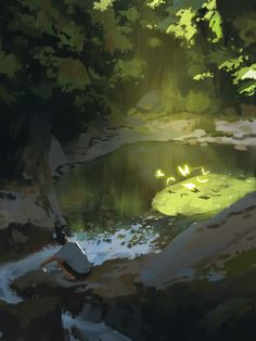 39 Ideas for painting art inspiration backgrounds Environment Painting, Environment Concept Art, Environment Design, Concept Art Landscape, Fantasy Landscape, Landscape Art, Arte 8 Bits, Art Disney, Anime Scenery