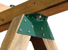 EZ Frame Bracket for DIY swing set. $7.59 prime ea. Need 2 per A-frame, 4 min for a simple set.