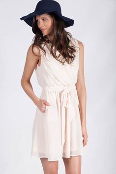 Lotus Boutique - Peach Spring Dress  #DateNight #Dresses #Mini #NewArrivals #blush #bow #bowfront #cute #easter #lace #Peach #spring #tie