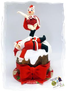 Santa Floored By Mrs Claus! - Cake by Pauline (Polly) Soo - Pauline Bakes The Cake!