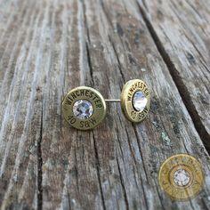 .40 S&W Brass Bullet Casing Stud Earrings