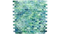 HotGlass - Bohemia 1 3/16 inch x  9/16 inch Glass Tile in Mallard 12 7/8 inch x 12 7/8 inch Paper Faced Sheets - ( BH802 )