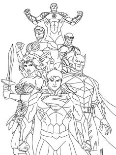 Justice League Coloring Pages. Coloring pages can be a popular exercise by parents at home or academics at university to provide understanding of the alphabets, Superman Coloring Pages, Cars Coloring Pages, Coloring Pages For Boys, Coloring Pages To Print, Printable Coloring Pages, Coloring Books, Coloring Sheets, Avengers Coloring Pages, Boy Coloring