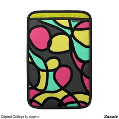 Shop Digital Collage MacBook Air Sleeve created by ringme. Bright Colors, Colours, Macbook Air Sleeve, Funky Design, Digital Collage, Abstract Art, Sleeves, Bright Colours, Vibrant Colors