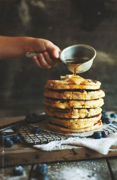 Blueberry Pancake by meldefazio #stocksy #realstock