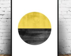 Minimalist abstract print done with muted natural colors.    Dimensions available:  5 x 7 8 x 10  11 x 14  A4 210 x 297 mm (8.3 x 11.7)  A3 297 x 420