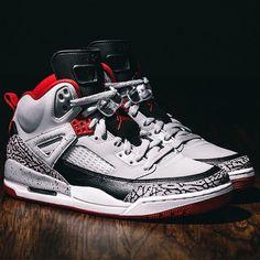 (230) Fancy - Wolf Grey Jordan Spizike Sneakers