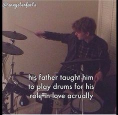He can play drums and bass guitar and can play the guitar left handed too