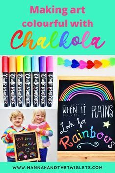 Chalkola Chalk Markers Review | Ad/Gifted - Hannah and the Twiglets Craft Activities For Kids, Crafts For Kids, Craft Ideas, Make Art, How To Make, Liquid Chalk Markers, Color Crafts, Creative Kids, Cool Toys