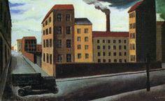 Mario Sironi - Paesaggio urbano con camion (1922)
