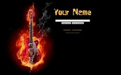 Burning Guitar Theme from ShinySearch Salem Cat, Google Homepage, Fire Animation, Google Custom, Your Name, Bing Images, Places To Visit, Names, Marketing