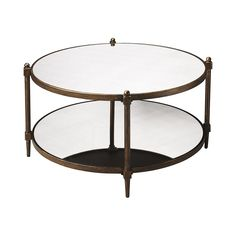 Finish your decadent living space with the undeniable elegance and sparkle of the Patricia Mirrored Cocktail Table. This round table is a fabulous way to pull together a seating area and it features a ...  Find the Patricia Mirrored Cocktail Table, as seen in the A Magical Victorian Night Collection at http://dotandbo.com/collections/a-magical-victorian-night?utm_source=pinterest&utm_medium=organic&db_sku=106878
