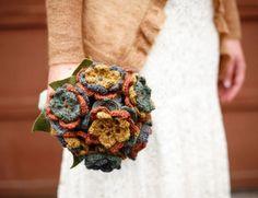 Yarn flower bouquet