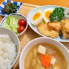 大皿料理を封印しようと思っています。 なぜなら作り過ぎて食べ過ぎるから… σ(^_^;) いつまで続くか!? - 83件のもぐもぐ - 鶏胸肉と椎茸と卵の天ぷら by ルドルフ
