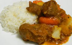 Puerto Rican Carne Guisada recipe: Carne guisada, or beef stew, is a very popular dish in Puerto Rico. It's our version of beef stew but with our ingredients, such as adobo and sofrito, for its signature flavor Puerto Rican Cuisine, Puerto Rican Recipes, Mexican Food Recipes, Beef Recipes, Cooking Recipes, Ethnic Recipes, Puerto Rican Beef Stew Recipe, Puerto Rican Carne Guisada Recipe, Recipies